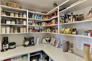 scullery open shelves small appliances