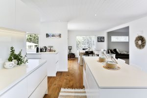 white beach theme kitchen