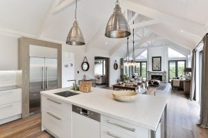 country kitchen high pitched roof