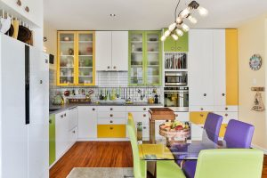 coloured kitchen cupboards