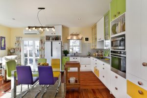 multi colour kitchen