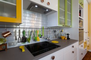 bright colour kitchen