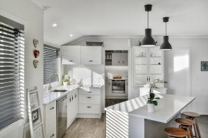 modern country corner kitchen style