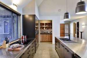 look through kitchen to scullery