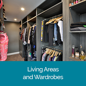 Living Area and Wardrobe Designs