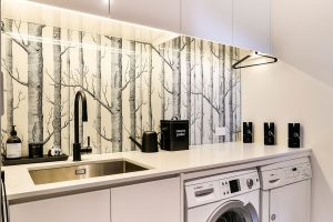 white laundry printed splashback