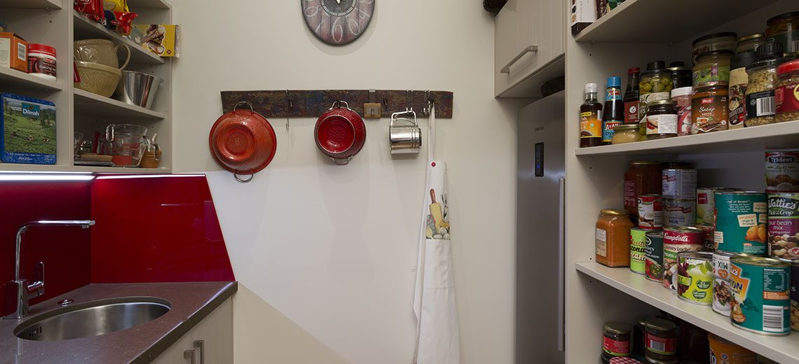 Scullery red stainless steel