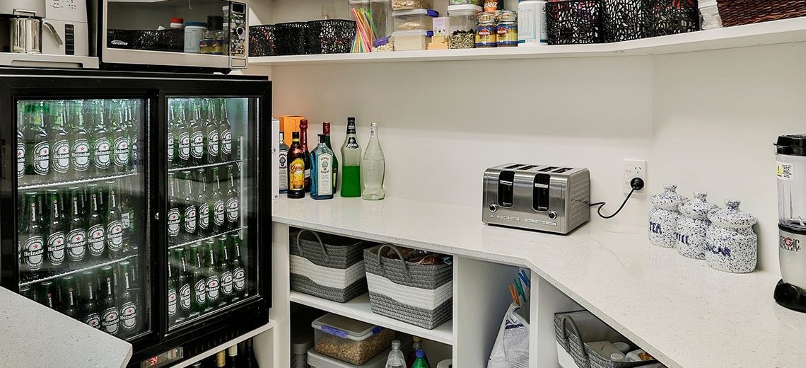 Scullery with beer fridge
