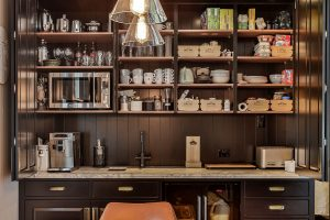villa kitchen coffee drinks station
