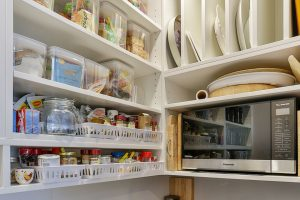 scullery open shelving