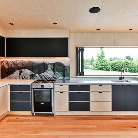 Seamless Solution - plywood kitchen