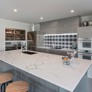 Entertainers delight - feature splashback and walk-in-pantry