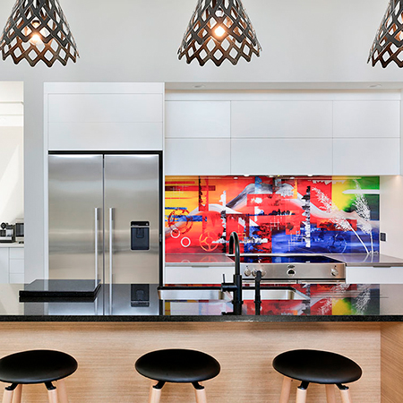 A splash of colour - splashback feature