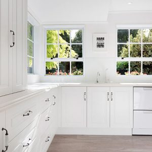 White on white country kitchen
