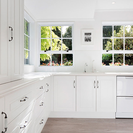 White on white - country kitchen